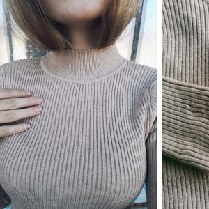 Autumn Winter Women Pullovers Sweater Knitted Elasticity Casual Jumper Fashion Slim Turtleneck Warm Female Sweaters