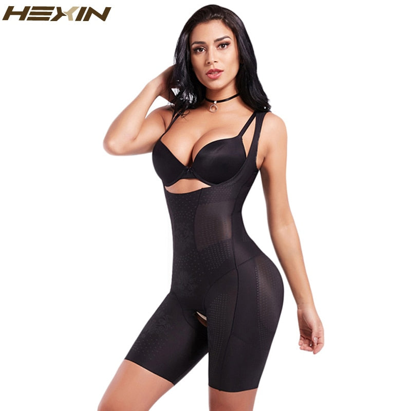 Women's Slimming Full Body Shaper Adjustable Straps Weight Loss Smooth Bodysuits Control Waist butt lift Shapewear
