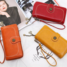 Load image into Gallery viewer, Wallet Women Female Clutch Purse Leather Long Wallet Phone Bag Coin Purse Card Holder Money Zipper Strap Multifunction