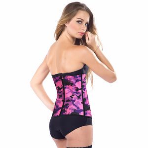 9 Steel Bones Latex Body Waist Trainer Smoothing Camouflage Waist Cincher Corset Women Shapewear Waist Body Shaper