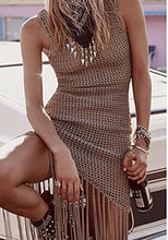 Load image into Gallery viewer, Bikini cover up Tassel Summer Tops Tunic  Womens Swimwear Robe(Coffee One Size)