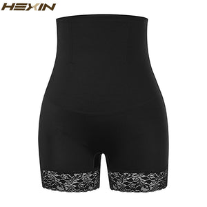 Women High Waist Body Shaper Lace Panties Seamless Tummy Control Pants