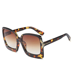 Australia Style Sexy Cat Eye Sunglasses Women 90s Vintage Big Frames Leopard gafas de sol UV400