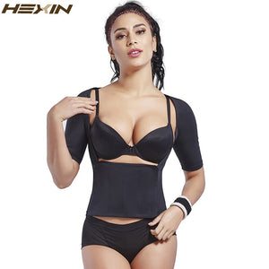 Women's Shapewear Tops Wear Short Sleeve Slimming  Shaper Body Control Arm Shape Underbust Waist Abdomen Sweat