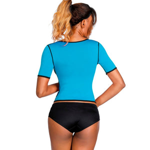 Neoprene Sauna Sweat Waist Trainer Weight Loss Corset Control Tummy  Body Shaper Women Slimming Shapewear Top