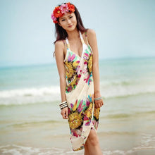 Load image into Gallery viewer, Women Sexy Sling Beach Wear Dress Sarong Bikini Cover-ups Wrap Pareo Skirts Towel Open-Back