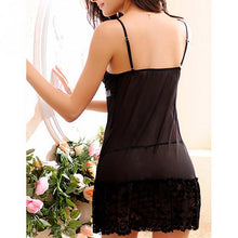 Load image into Gallery viewer, Women Sexy Nightwear Plus Size Lace Nightgown Sleepwear Dress G-String Sexy Lingerie Robe