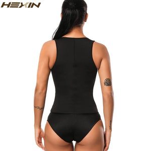Neoprene Vest Waist Trainer Sweat Body Shaper Slimming Shapewear Zipper Weight Loss Black Corset Underbust Waist Trainer