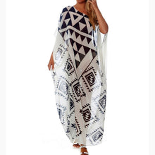 Load image into Gallery viewer, Plus Size Chiffon Long Beach Dress Beach Boho Sexy Women Dress Robe