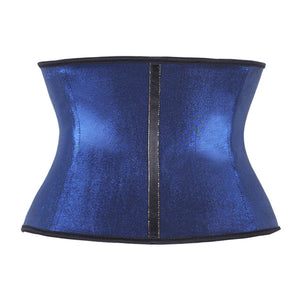 100% Rubber Latex Gilding Blue Strench Waist Trainer 3 Hooks Body Shaper  Fajas Reductoras Shapewear Corsets