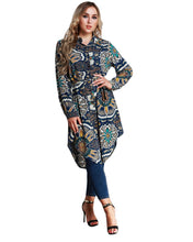 Load image into Gallery viewer, Large Size Tunics female Blouse Women Floral Print Shirts Spring Long Sleeve Asymmetric Tops Plus Size 3XL 4XL 5XL 6XL 7XL