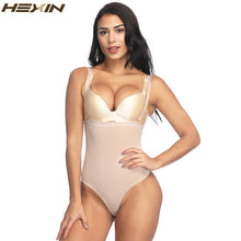 Load image into Gallery viewer, Women High Waist Body Shaper Adjustable Straps Underwear Thong Lingerie Slimming Bodysuit