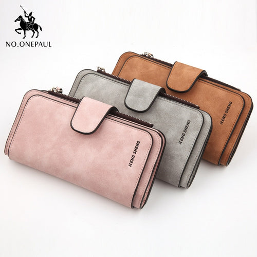 New hot sale unisex coin purse mobile phone bag capacity large zipper buckle design sleek minimalist long wallet