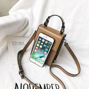 Multifunction Ladies Lock Mobile Phone Wallets PU Leather Purse For Women Handbag Credit Card Shoulder Bags Mini Messenger Bag