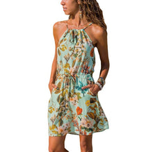 Load image into Gallery viewer, Beach dress boho floral plus size bohemian mini chiffon vestido  short flower chic sun ladies