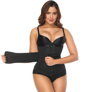 Neoprene Sauna Sweat Waist Cincher Zipper Corsets Body Shaper Abdominal Slimming Belt Tummy Trimmer Shapewear