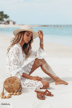 Load image into Gallery viewer, Women Bikini Cover Up Floral Lace Hollow Crochet Swimsuit Cover-Ups Bathing Suit Beachwear Tunic Beach Summer Hot Dress