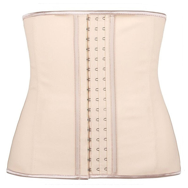 100% Latex Waist Trainer Corset 9 Steel Bone Shapewear Body Shapers Women Corset Slimming Belt