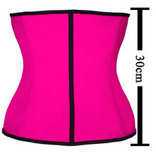 Load image into Gallery viewer, 100% Latex Waist Trainer Corset 9 Steel Bone Shapewear Body Shapers Women Corset Slimming Belt Waist Shaper