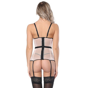 Sexy Bustier Corset Sexy Femme Overbust Lace Up Lingerie Appliques Women Push Up Adjustable Shoulder Strap Bustier Corset