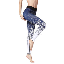Load image into Gallery viewer, Women's Ankle Length Printed Yoga Pants Quick Dry Gym Leggings Stretch Fit Fitness Running Athletic Tights