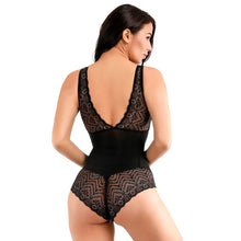 Load image into Gallery viewer, Sexy Deep V Bodysuit Women Full Body Girdle Shapers Leotard Bodies Control Tummy Butt Lift Lace Shaper