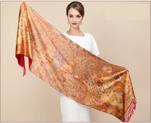 Load image into Gallery viewer, Fashion Designer Ladies Big Scarf Women Brand Wraps Real Double-deck Thickened Brush Autumn Winter Shawl Scarves