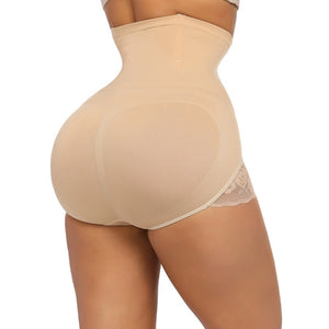 Seamless Shaping Panty Lace Butt Lifter with 4 Bones High Waist Trainer Body Shaper Slimming Shapewear Tummy Shaper
