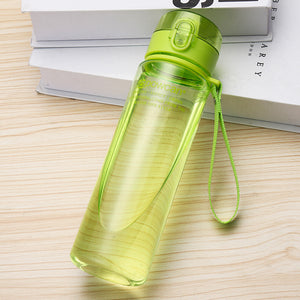 501-600ml Bottle for Water Outdoor Water Bottle Sports Water Bottle Eco-friendly with Lid Hiking Camping Plastic My Bottle