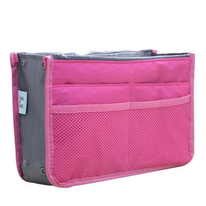 High Quality Thick Large Capacity Cosmetic Storage Bag Nylon Travel Insert Organizer Handbag Purse Makeup Bag For Women Female