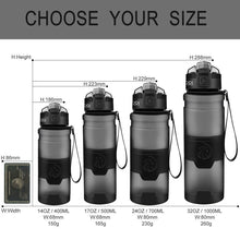 Load image into Gallery viewer, Bottle For Water Protein Shaker Portable Motion Sports Water Bottle BPA Free Plastic For Sports Camping Hiking Gourde
