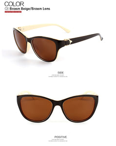 Luxury Brand Designer Brown Cat Eye Polarized Sunglasses Womens Lady Elegant Sun Glasses Female Driving Eyewear Oculos De Sol