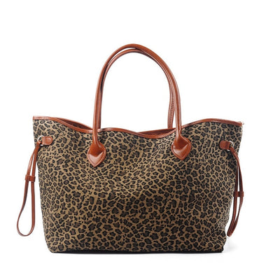 Leopard Women Canvas Handbag Lady Large Casual Tote Bag Bridesmaid Gift Can Be Embroidery