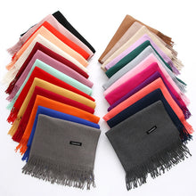 Load image into Gallery viewer, Female Male Canada Wool Cashmere Scarf Pashmina Tassels Women Wrap Warm Scarf Unisex