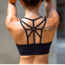 Load image into Gallery viewer, Hollow Female Fitness Women Yoga Gym Tops Sport Bh Woman High Impact Sports Bra Top Academia Active Wear For Women's Racerback