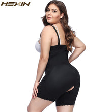 Load image into Gallery viewer, Plus Size Clip and Zip Shapewear Waist Slimming Shaper Corset Brief Butt lifter Strap Body Shaper Underwear Women Bodysuit