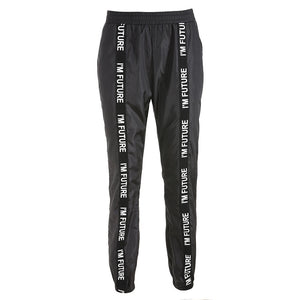Harem Pants Trousers Women Full Length Loose Jogger Sporting Black Casual Combat Streetwear