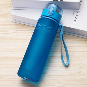 501-600ml Eco-friendly with Lid Hiking Camping Plastic Drinking Bottle