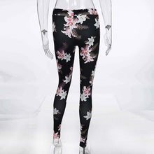 Load image into Gallery viewer, Women's Fitness Suits Crop Tank Workout Floral Printed Top And Legging Pants 2 Pieces Set Summer Ladies Sexy Tracksuit