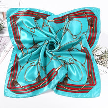 Load image into Gallery viewer, Summer New Fashion Elegant Women Square Silk Feel Satin Scarf Hair Tie Band Skinny Retro Head Neck Small Vintage for Women Girl