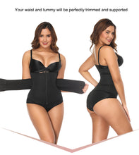 Load image into Gallery viewer, Neoprene Sauna Sweat Waist Cincher Zipper Corsets Body Shaper Abdominal Slimming Belt Tummy Trimmer Shapewear