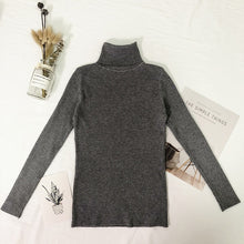 Load image into Gallery viewer, Womens Sweaters Winter Tops Turtleneck Sweater Women Thin Pullover Jumper Knitted Sweater Pull New