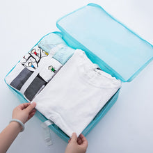 Load image into Gallery viewer, Travel Bags Sets Waterproof Packing Cube Portable Clothing Sorting Organizer Luggage Tote System Durable Tidy Pouch Stuff