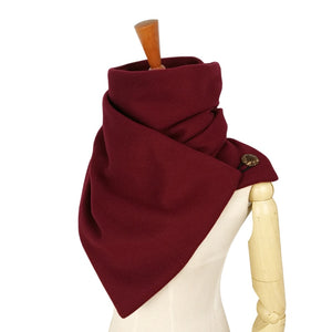 Hooded scarf Neck warmer Cowl scarf Women Winter fashion Scarves and hooded snoods loop button