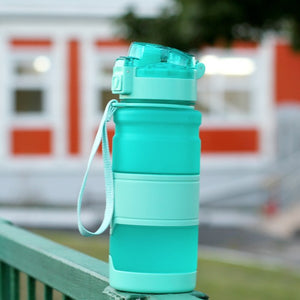 Bottle For Water Protein Shaker Portable Motion Sports Water Bottle BPA Free Plastic For Sports Camping Hiking Gourde