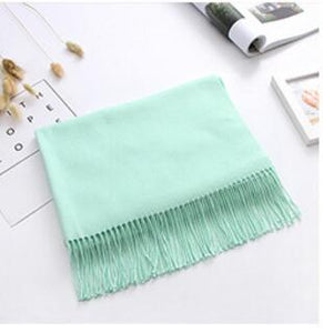 Women solid color cashmere scarves with tassel lady long scarf high quality hot sale