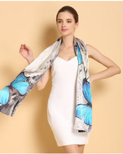 Load image into Gallery viewer, Women Silk Shawl Spring Autumn Genuine Long Pure 100% Beach Cover-ups