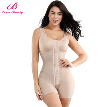 Load image into Gallery viewer, Full Body Shaper Slimming Waist Trainer Tummy Control Corset Open Crotch Bodysuit Postpartum Push Up Underwear Shapewear