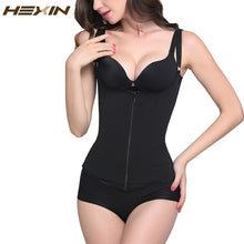 Load image into Gallery viewer, Zipper and Clip Waist Shaper Fajas Body Shaper Plus Size Shapewear Slimming Vest Corset Latex Waist trainer 6XL
