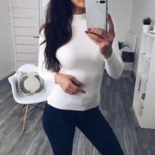 Load image into Gallery viewer, Autumn Winter Women Pullovers Sweater Knitted Elasticity Casual Jumper Fashion Slim Turtleneck Warm Female Sweaters